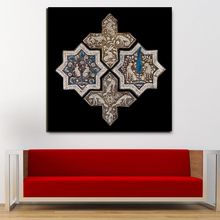 Islamic Solomon Gold Plated Tiles Canvas Painting Prints Living Room Home Decoration Modern Wall Art Oil Painting Poster Picture