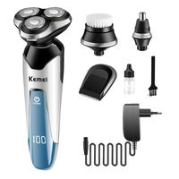 Kemei KM 5390 4 in 1 electric shaver washable nose hair trimmer electric razor men shaving machine grooming kit face Cleanser