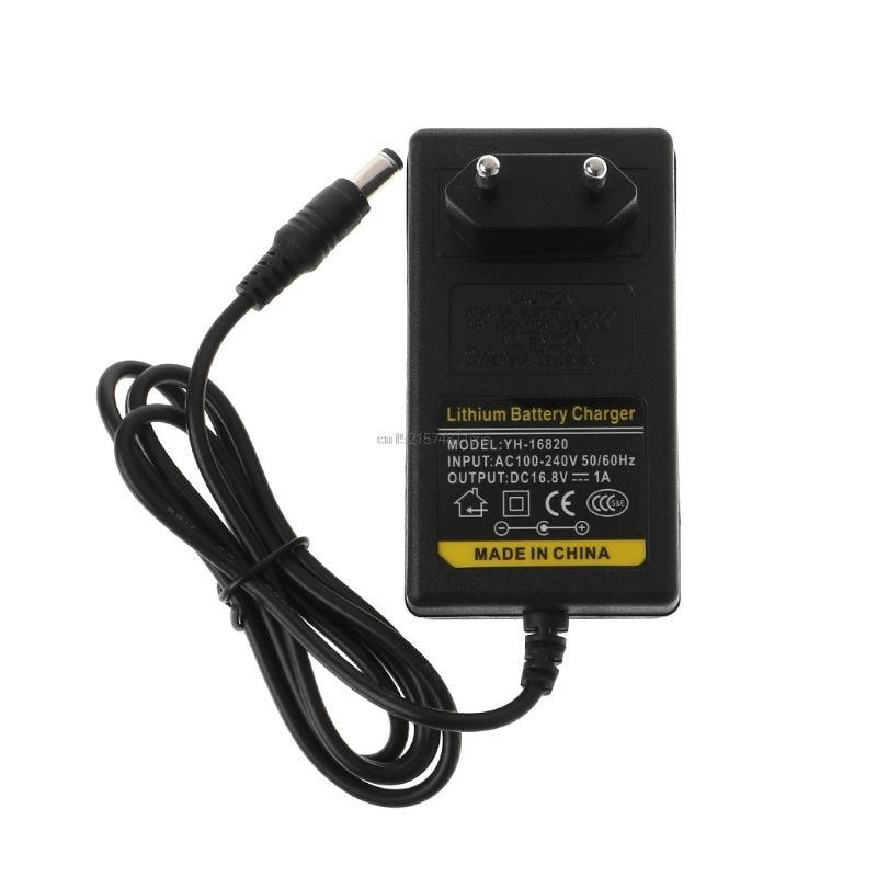 Зарядное устройство 16,8 V DC AC 1A Интеллектуальный литиевый литий-ионный адаптер питания EU US Plug