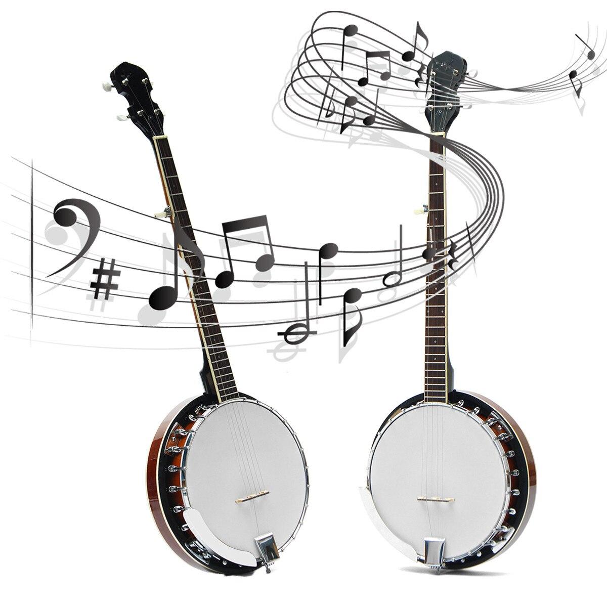 5 cordes Banjo guitare acajou bois traditionnel Western ukulélé Concert basse guitare pour Instruments à cordes musicales