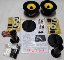HiVi M1 DIY Lautsprecher Kit = 2 stücke (F5 Midwoofer + RT1C-A Ribbon Tweeter) Lautsprecher Teiler + Rohr + Terminal + Lautsprecher Kabel + Schrauben + Akustische Wolle