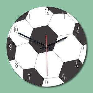 11 Cal kształt piłki nożnej 3d zegar ścienny do koszykówki PIŁKA NOŻNA Golf sport fanów chłopcy prezent urodzinowy dla dzieci sypialnia dekoracji pień