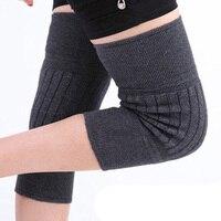 Automne et hiver Double laine épaisse genouillère Leggings Leggings Unisexe ensemble de protection thermique commune livraison gratuite