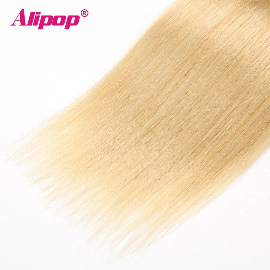 ALIPOP T1B 613 Brazilian Straight Human Hair 34 Bundles Deal Ombre Blonde hair weave bundles Non Remy Human Hair Extensions (3)