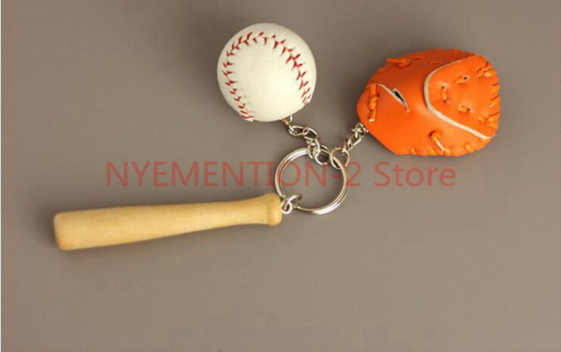 US $113 56 |80 Keychains Wholesale Sports Memorabilia Baseball Bat Key  Holder Wooden Stick Bag Pendant Fans Supplies Creative Jewelry Gifts-in Key