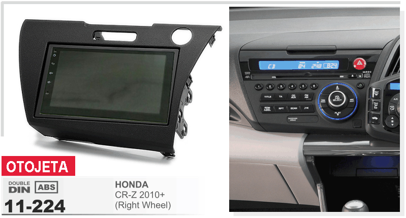 Fit for Honda CR-Z 2010 right wheel android 7.1 gps navi mp5 car dvd player 1080p stereo multimedia headunit tape recorder radio