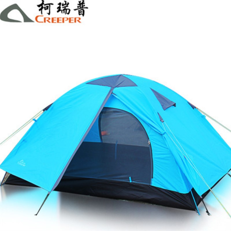 Creeper Outdoor double double rainstorm camping tent Aluminum alloy pole folding couple tent Dropshipping