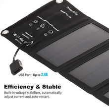 Portable Solar Charger Foldable 10W Solar Panel with USB Port for Cell Phone Camping Travel  QP2