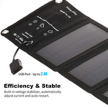 Portable Solar Charger Foldable 10W Solar Panel with USB Port for Cell Phone Camping Travel QP2(China)