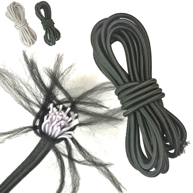 4mm x 5 m anti-UV elástico cuerda elástica Cordón de choque corbata para Marina barco Kayak surf de techo rack