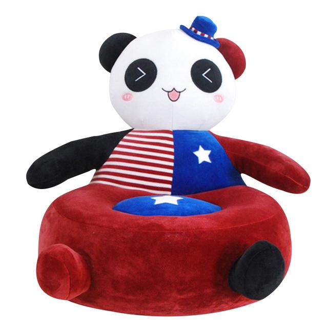 Nova Moda Da Criança Do Bebê Bonito Sofá Crianças Brinquedos de Pelúcia Lindo Animal Dos Desenhos Animados Assento Fezes Sofá Boneca Crianças do Saco de Feijão Dormir cama