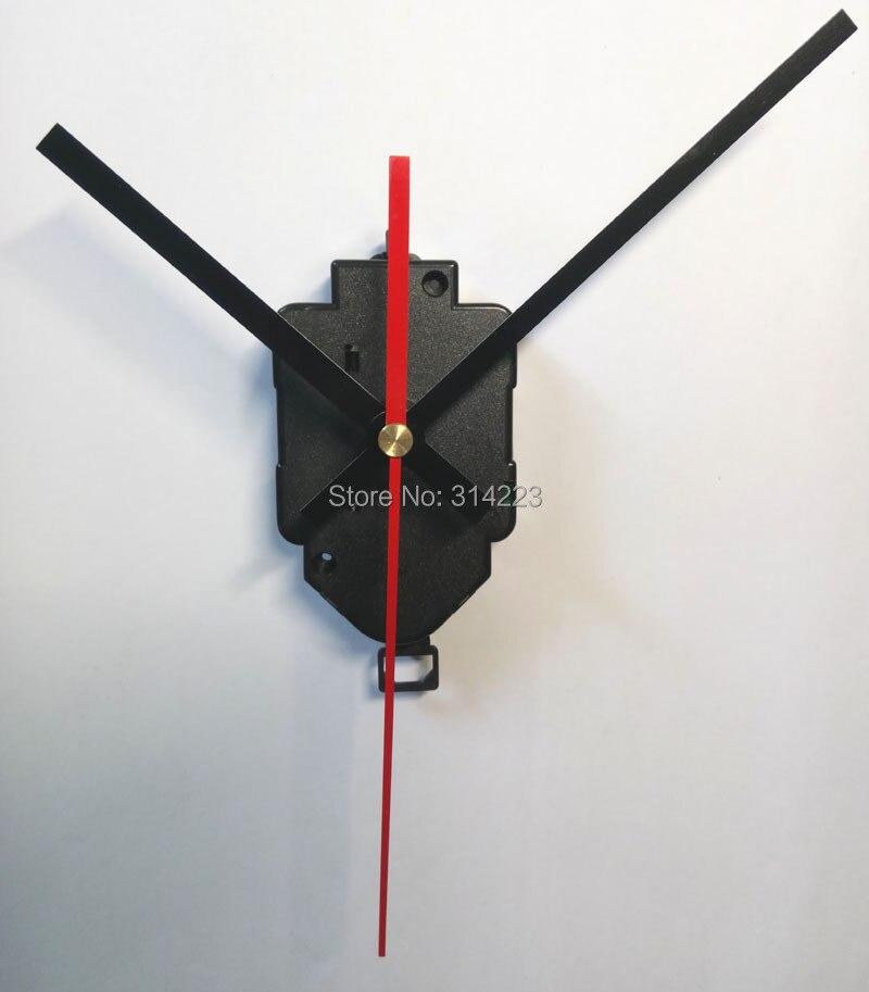 Livraison gratuite de Haute qualité Quartz Pendule Horloge Mouvement Kit Broche arbre Mécanisme 16.5mm Saut secondes s'égrènent mécanisme sonore