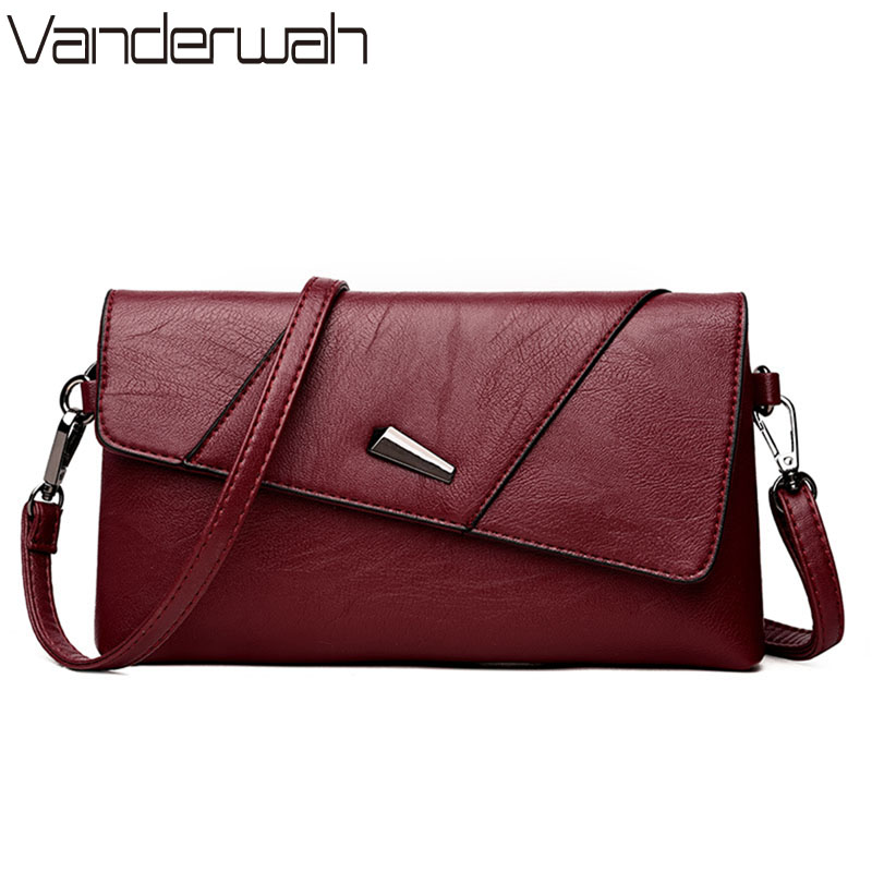VANDERWAH 2018 Fashion Women's Clutch Bag Leather Women Famous Brands Shoulder Bag Clutch Female Bolsas Day Clutches Handbag famous brands small leather bag female genuine skin bag new arrivals women handbag fashion day clutch purse bag 2017 spring sac
