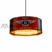 Retro Industrial Wind pendant lights Restaurant card seat Net Restaurant Cafe shop Iron Creative bar plate Styling pendant lamp