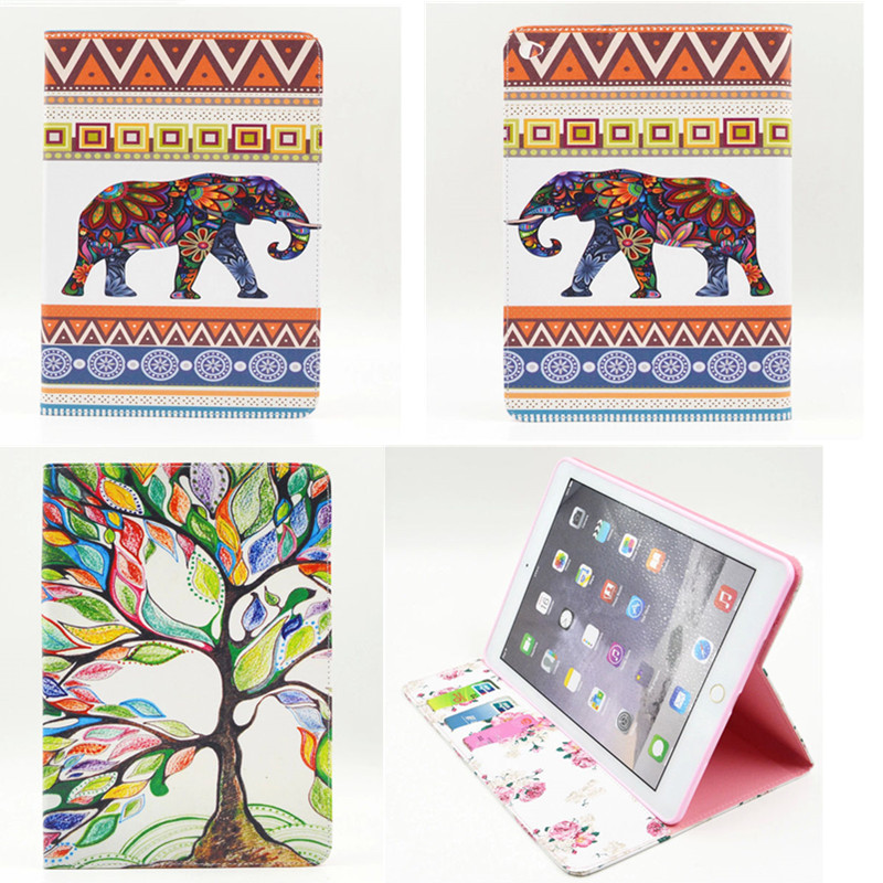 BF-Colored drawing book case cover for Ipad air 2 Europe style print PU leather flip protect cover for Ipad air2 ipad6