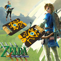 Cosplaydiy The Legend of Zelda: Breath of the Wild Cosplay Costume Big eyes Logo Waist Shield Bag Accessories Cosplay Props