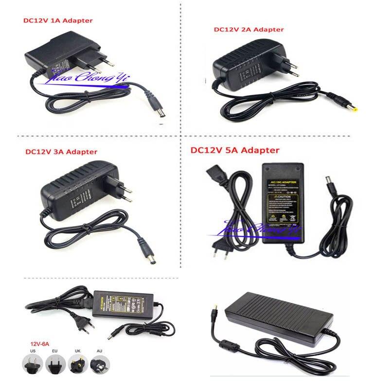 AC110 220V Power Supply Adapter Transformer LED Strip 2A 3A 5A 8A DC 5V 12V  24V 5V 12V 24V Power Supply Adapter US/EU/UK/AU Plug
