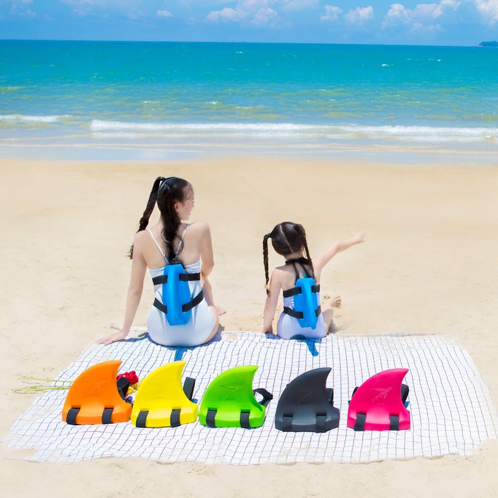 Shark Shape Kid Swim Fin Kid's Toy Swim Artifact Shark Fins Inflatable Children Swimming Pool Life Buoy Floats Swimming Rings