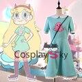 Mariposa Estrella estrella contra las Fuerzas del Mal Partido Cosplay Halloween Dress + Bolsa + Calcetines + Tocado