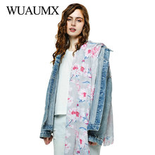 Wuaumx NEW Spring Autumn Scarf Women Floral Print Designer Long Scarves Female Ladies Shawl And Wrap sjaals voor dames