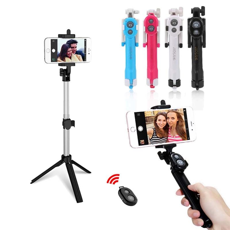 4 Colors Selfie Stick Mini Tripod Monopod Selfie Stick Bluetooth Remote Control Shutter Handheld Extendable Monopod Selfie Stick