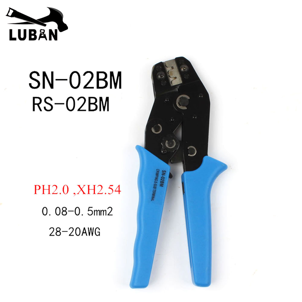 SN-02BM RS-02BM pliers PH2.0 Dupont Terminal D-SUB clamp pliers,XH2.54, 28-20AWG Wire cutting mould crimping tool 0.08-0.5mm2