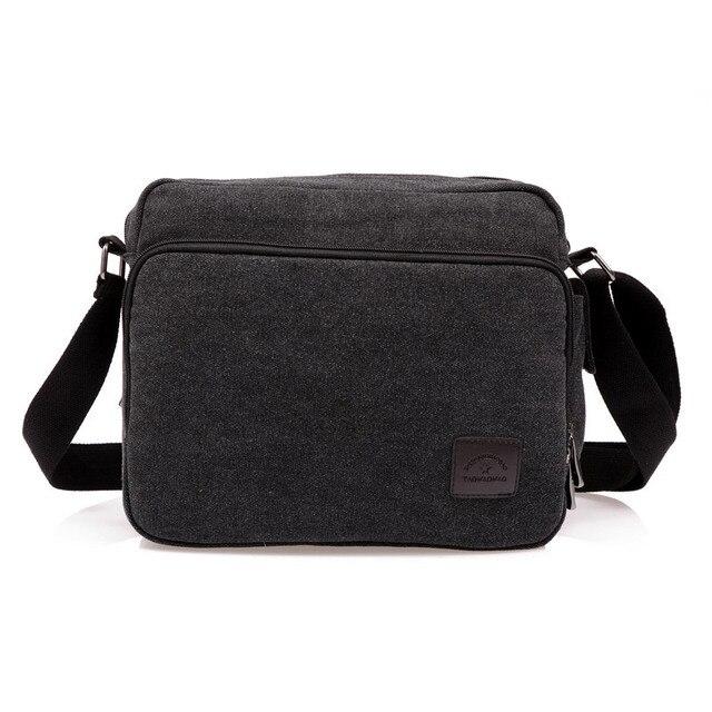High Quality Multifunction Men Canvas Bag Casual Travel Bolsa Masculina Men's Crossbody Bag Men Messenger Bags 5
