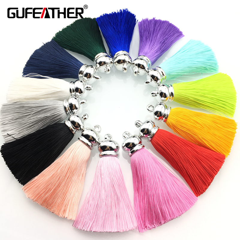 GUFEATHER L23/7CM/silk tassels/jewelry accessories/diy jewelry findings/jewelry making accessories/accessories parts diy jewelry findings