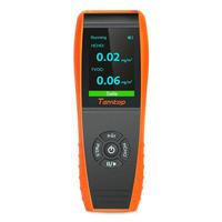 Air Quality Detector Formaldehyde Monitor Temperature and Humidity Detector with PM2.5/PM10/HCHO/AQI/Particles Recording Curve