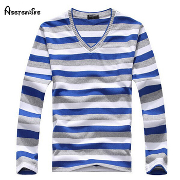 2019 Man Fashion Designer Brand Clothes Mens Jumper V Neck Male Stripe Sweaters Polo Pullover Sweater Plus Size L-4XL