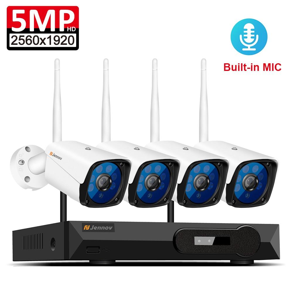 Wifi 5MP H.265 Full HD A Casa Senza Fili del CCTV Wifi della Macchina Fotografica di Sistema di 1080 p 2MP Video Kit di Sorveglianza NVR WI-FI di Sicurezza sistema di telecamere