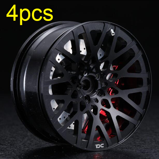 4 Pcs Metal Wheels Aluminum Alloy Wheel Hubs For 1/10 RC Drift Car On-road Car Model