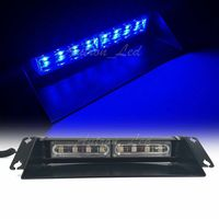 11 LED Blue Dash Sucker Response Signal vehicle Strobe Windshield Light Bar 24W