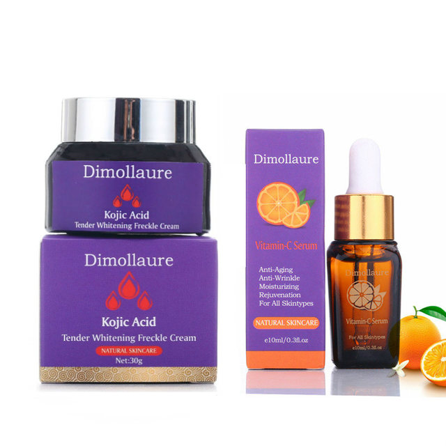 Dimollaure kojic acid whitening cream Retinol Vitamin peptides Argireline serum Remove Freckle melasma pigment Melanin dark Spot