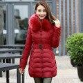Tamanho grande L-4XL longo parkas para mulheres inverno com capuz sólida senhoras elegantes fino casaco mulheres jaquetas e casacos de alta qualidade DX512