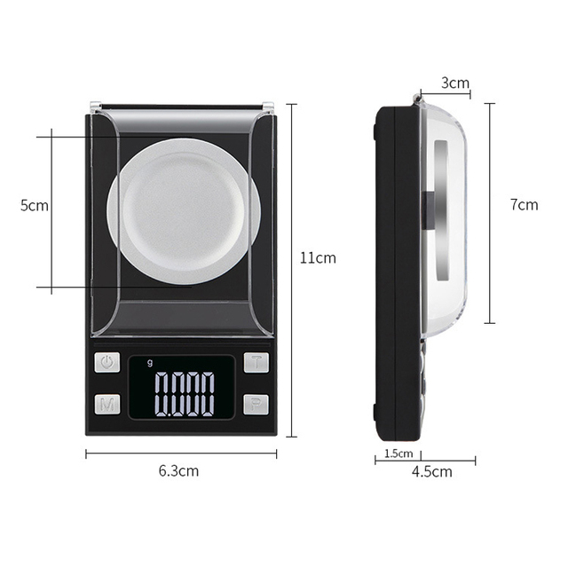 High precision 0.001g 50g 100g diamond gold silver electronic digital jewelry lab scale
