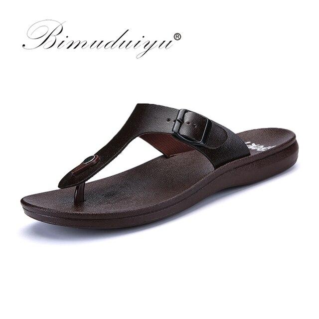 b94c1e93034eb BIMUDUIYU Brand New Arrival Classic Summer Men Flip Flops Non-slide Male  Slippers Comfortable Breathable