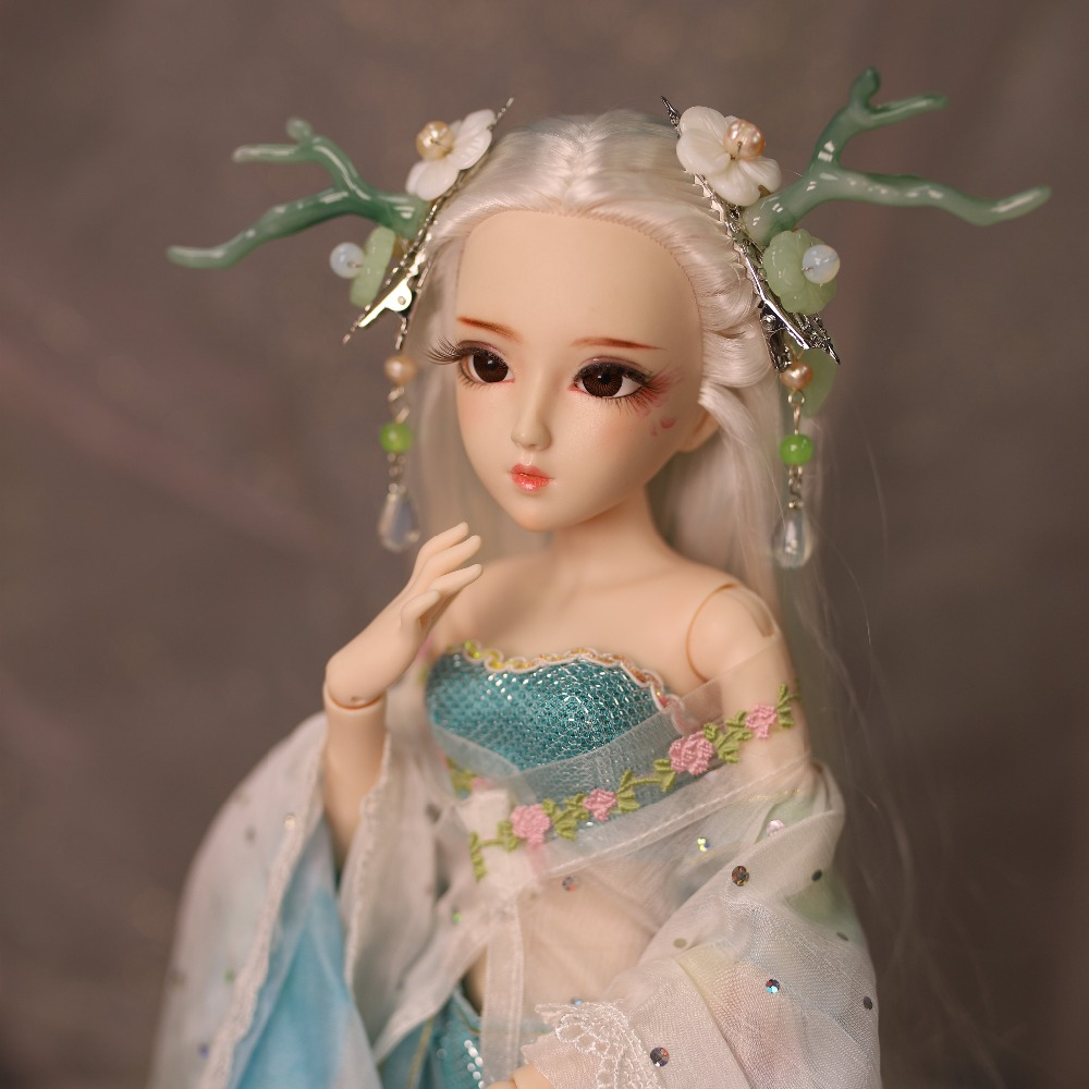 DQ bjd 45cm Diary Queen 1 4 bjd doll Chinese style clothes headdress handsets joint body