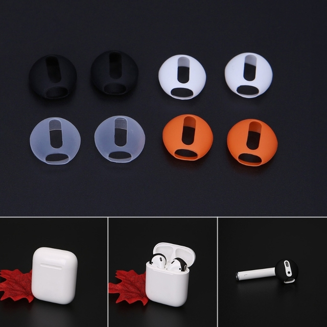 2 Pairs Ultra-thin Silicone Eartips For Apple Airpods 1