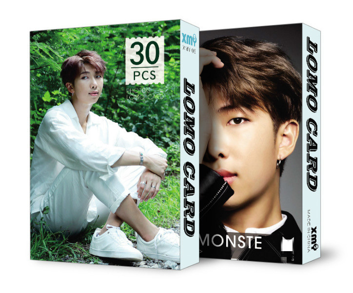 Image 2 - 30pcs/set k pop  Bangtan Boys Album LOMO Cards New Fashion Paper Photo Card HD Photocard-in Women's Masks from Apparel Accessories