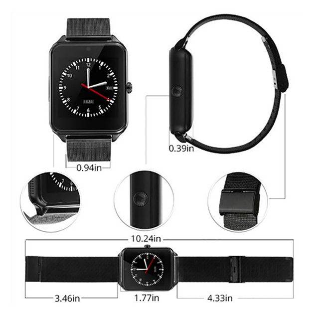 Diggro GT08 Plus Metal Strap Smart Watch smart watch ios Z60 Bluetooth Wrist Smartwatch Support Sim TF Card Android Watch pk Q9