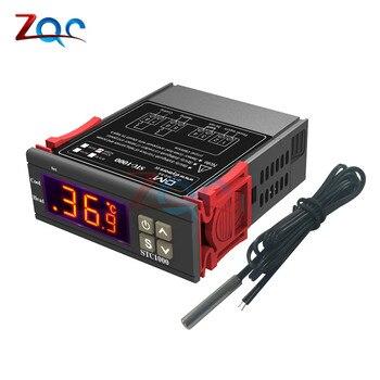 DC 12V 24V AC 110V 220V LED Digital Temperature Controller Thermoregulator thermostat Control W/ Heater and Cooler probe sensor