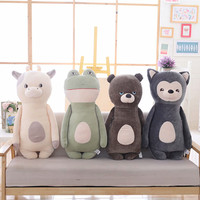 1pc 85cm Cute Dog Cattle Bear Frog Plush Toy Stuffed Soft Animal Cartoon Pillow Lovely Kids Toy Christmas Present Friends