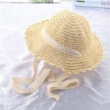 Women's Straw Hat Wide-Brimmed Hat Handmade lace Folding Beach Hat Female Summer Hat Baby Chapeeau Femme Parent-Child Cap multi brimmed sinamay hat