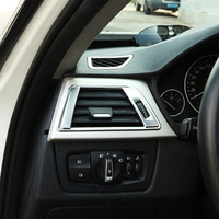 2x Chrome ABS Dashboard Side Air Vent Outlet Cover Trim for BMW 3 Series F30 F31 13 15 GT F34 14 16 & 4 Series F22 F33 F36 14 17
