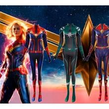 Captain Marvel Carol Danvers Cosplay Costumes Suit Bodysuit Jumpsuit Halloween Women
