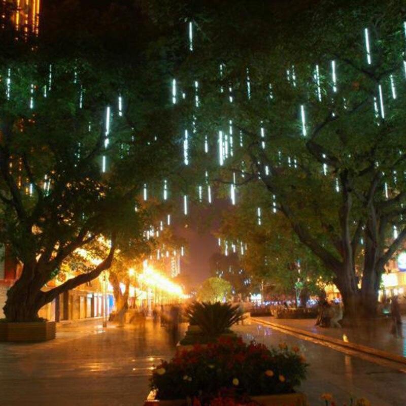50cm Multi-color Meteor Tube Meteor Shower Rain String LED Christmas Light Wedding Party Garden Xmas String Light Outdoor