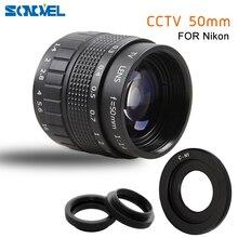 50 Mm F1.4 Camera Quan Sát Bộ Phim Truyền Hình Ống Kính + C Mount + Macro Ring Cho Nikon 1 AW1 S2 J4 J3 j2 J1 V3 V2 V1 Máy Ảnh Không Gương Lật C NI