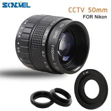 50mm F1.4 CCTV TV Film objektiv + C Montieren + Macro ring für Nikon 1 AW1 S2 J4 J3 j2 J1 V3 V2 V1 spiegellose Kamera C NI