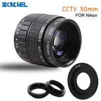 50mm F1.4 CCTV TV Movie lens+C Mount+Macro ring for Nikon 1 AW1 S2 J4 J3 J2 J1 V3 V2 V1 mirrorless Camera C NI